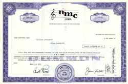 NMC Corp. - Delaware 1973 ( Music Notes Vignette )