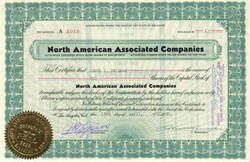 North American Associated Companies - Los Angeles, California  1930