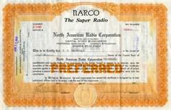 North American Radio Corporation ( NARCO - The Super Radio ) - Colorado 1922