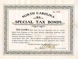 North Carolina Special Tax Bonds ( Certificate for repudiated North Carolina Bonds)  - 1905