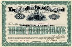 North Carolina Special Tax Bond - North Carolina 1887