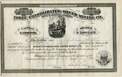 Noble Consolidated Silver Mining Company - Leadville, Colorado - 1880