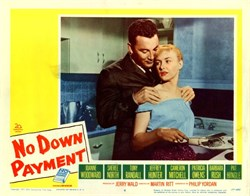 No Down Payment Lobby Card Starring Joanne Woodward, Sheree North, and Tony Randall - 1957