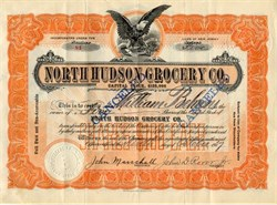North Hudson Grocery Co. - North Bergen, New Jersey 1917