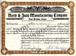 North & Judd Manufacturing Company - Connecticut 1960