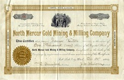 North Mercur Gold Mining & Milling Company - Camp Floyd Mining District, Utah - 1896