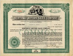 Northway Motors Sales Company - Massachusetts 1920