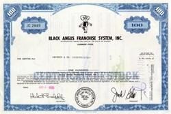 Black Angus Franchise System, Inc 1969 - Cowboy Vignette
