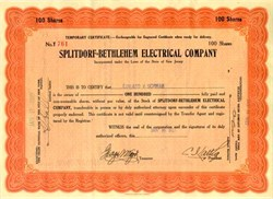 Splitdorf - Bethlehem Electrical Company (Made Splitdorf radio-phonographs and was acquired by Thomas Edison in 1928)