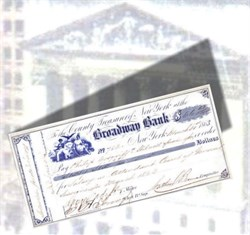 Broadway Bank New York Treasury Check 1863 signed by Draft Riot Mayor - Civil War Era