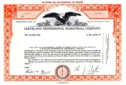 Cleveland Cavaliers NBA Team - 1970