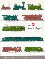 Pennsylvania Railroad - Original Annual Report 1962 and Horseshoe Curve Stock Certificate