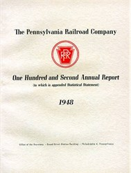 Pennsylvania Railroad - Annual Report 1948 and Horseshoe Curve Stock Certificate