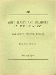 West Jersey and Seashore Railroad Annual Report SCARCE Color Map 1915