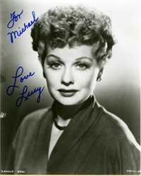 Lucille ( Lucy) Ball signed Photograph