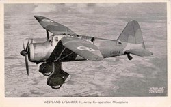 Westland Lysander  - Army Co-operation Monoplane