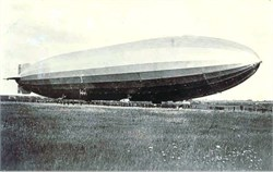 British Blimp at Royal Airship Works in Cardington