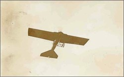Early Real Photo Airplane Postcard