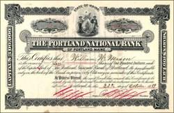 Portland National Bank 1889