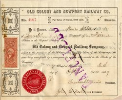 Old Colony and Newport Railway Co. 1869