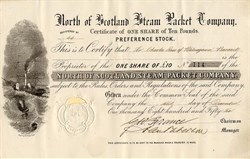 North of Scotland Steam Packet Company - Scotland 1856