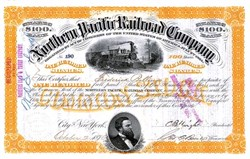 Northern Pacific Railroad Company  signed by Frederick Billings (Billings, Montana) - 1878