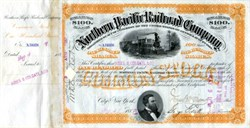 Northern Pacific Railroad Company signed by James B. Colgate - 1887