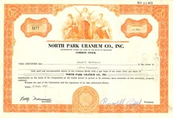 North Park Uranium Co., Inc. - Delaware 1957