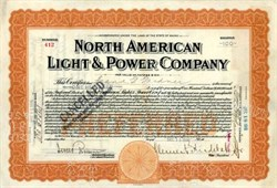 North American Light and Power Company 1916 - signed by Clement Studebaker