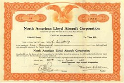 North American Lloyd Aircraft Corporation 1929