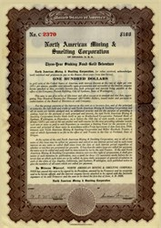 North American Mining & Smelting Corporation Nevada 1928 - Gold Debenture