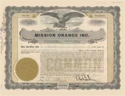 Mission Orange Inc. 1932- Nevada
