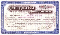 North Belle Isle Mining Company 1891 - Elko County, Nevada