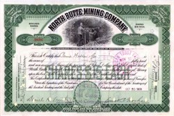 North Butte Mining Company Stock Certificate 1913