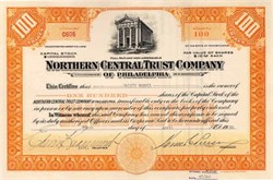 Northern Central Trust Company of Philadelphia 1930