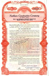 Northern Constructon Company of Elkhart, Indiana 1926 - Gold Bond