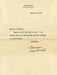 Norman Rockwell Signed Letter - 1960