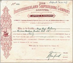 Northumberland Shipbuilding Company Limited 1919