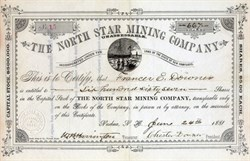 North Star Mining Company - New Hampshire 1881