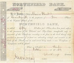 Northfield Bank 1863