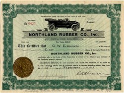 Northland Rubber Co ., Inc. - New York 1916