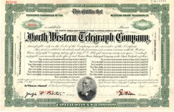 North Western Telegraph Company - Wisconsin ( 6% Western Union Guarantee Stock )