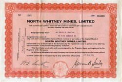 North Whitney Mines, Limited