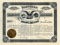 Northern Savings and Loan Association signed by George F. Getty ( Jean Paul Getty's father)  - Minneapolis, Minnesota 1894