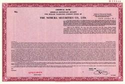 Nomura Securities Co., Ltd. - ADR Specimen - 1985