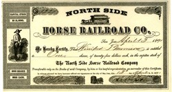 North Side Horse Railroad Co. (RARE) - San Jose, California 1891