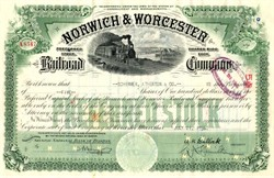 Norwich & Worcester Railroad Company - Massachusetts 1936