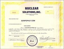 Nuclear Solutions, Inc  ( Homeland Security ) -   Washington DC