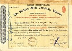 Nuddea Mills Company Limited. - Calcutta 1920