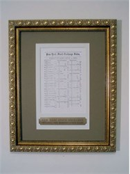 New York Stock Exchange Original Stock Price Quotation Sheet issued in 1860 - Professionally Framed